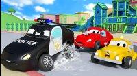 汽车城之警车和消防车 第24集 婴儿车卡在水泥里了!