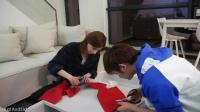 美国妹子第一次在中国过圣诞节, 亲手做了圣诞摆设, 手也太巧了吧