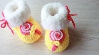 【双然宝贝】加绒宝宝鞋- 棒棒糖造型教程