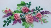 手工刺绣: 漂亮的月季花立体刺绣, 美的让人心动