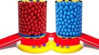 老朋友色彩怪兽车色彩小球给怪兽车涂色彩英语儿童英语ABC少儿英语ABC