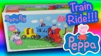 乔治的火车旅行 粉红猪小妹 小猪佩奇 大型乐高积木 LEGO George's Train Peppa Pig