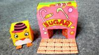 亲子游戏第二十七集 糖果屋手工涂鸦折纸, 手绘立体建筑折纸DIY教程, 糖果屋简笔画步骤