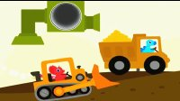 恐龙挖掘机2 推土机爪子挖掘机翻斗车 小三角龙开挖掘机寻宝恐龙历险记陌上千雨解说