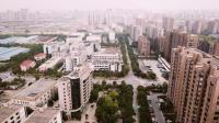 进城打工 在浙江杭州西湖科技园航拍, 都是钢筋水泥城堡!