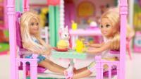 芭比娃娃小凯丽的野餐秋千 趣盒子过家家玩具分享