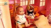 摇篮里的婴儿宝宝真可爱