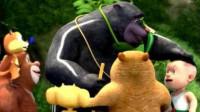 熊熊乐园熊大熊二变身机甲勇士筱白解说