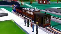 【永哥】托马斯和朋友们215 托马斯托比赖安多多岛探险 火车游戏