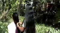 国外长发女3