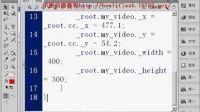 FLASH CS5视频教程804 FLV组件视频播放器4  编写全屏代码