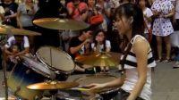 《宝贝对不起》曼青 爵士鼓演奏草蜢乐队经典歌曲 河岸留言街头宣传