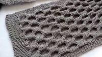 圆圈花围巾的编织方法视频教程 男式士围巾编织教程花样