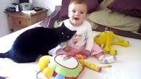【时光可爱儿童184】乖猫与萌宝的快乐生活