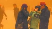 """北京雾霾与沙尘并存 章子怡成""""吸土部队""""司令 130310"""