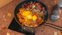 【野餐露营】便携炉烹制的一日三餐-荒地自驾露营