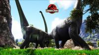 《方舟侏罗纪公园生存-1》对恐龙各种厮杀, 几只腕龙如同地震