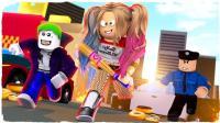 豪宝宝Roblox乐高双人超级英雄大亨 哈瑞奎恩小丑女大战钢铁侠
