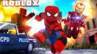 豪宝宝Roblox乐高双人超级英雄大亨 钢铁侠拯救全新城市地图