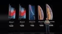 苹果发布 iPhone Xs、iPhone Xs Max、iPhone XR, 七种配色 6499 元起