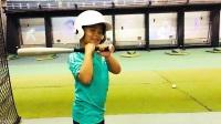 【7岁】6-30哈哈在东京燕子队国立棒球场玩模拟棒球击球练习IMG_0591