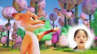 寓言故事狐狸与葡萄-张馨沂讲狐狸和葡萄的故事配乐视频