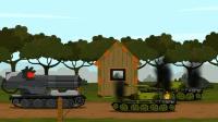 坦克世界欢乐动画: 白云你实力够强了, 不用那么多炮管