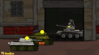 坦克世界欢乐动画: 万圣节到了, 苏系挨个问好送糖吃真是老大哥啊