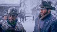 【入江闪闪】荒野大镖客2-02-暴风雪中寻觅失踪的队友约翰, 亚瑟霰弹枪喷雪山狼群真爽!