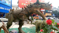 侏罗纪恐龙公园 色彩鲜艳的恐龙 霸王龙三角龙棘背龙阿根廷龙与老虎大象狮子的决斗
