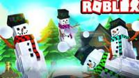Roblox乐高小游戏 第一季:逃离雪人谷!圣诞节 筱白解说
