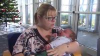 美国女子产下13.4斤重巨婴 医生: 接生30年第一次见
