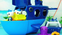 海底小纵队潜艇玩具 巴克队长的巨型蓝鲸艇救援行动