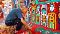 96岁老人用画笔拯救了一个村庄, 每年吸引百万游客, 成网红打卡地
