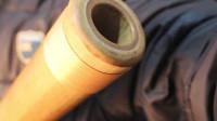 澳洲古乐器迪吉里杜管禅吹管老楠竹毛竹手工镶嵌吹口大喇叭口
