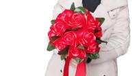 丝带手捧花, 把你们做的都这么包起来吧, 很美的哟。