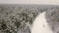4K航拍雪景森林看了你肯定忘不了