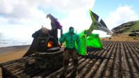 方舟生存进化 帕格纳西亚02 触景生情 空中堡垒底下打造海景房
