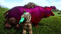 方舟生存进化 帕格纳西亚09 抓到超厉害的大河马,打一拳头有惊喜!