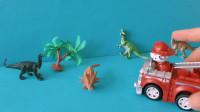 儿童益智玩具:天气炎热,森林起了大火,还好汪汪队出现