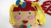 给纸筒娃娃梳头,幼儿园区角游戏自制玩教具