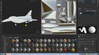 3Dmax飞机国产歼10第十七节绘制Substance 材质