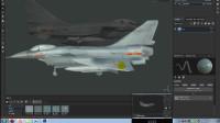 3Dmax飞机国产歼10第十八节PS绘制Substance 材质