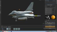 3Dmax飞机国产歼10第十九节调整Substance 材质