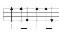 尤克里里节奏型( 下 下上)