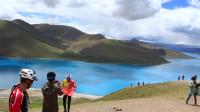 骑行新藏线第44集 西藏圣湖羊卓雍错 逛地球车队骑行西藏川藏新藏 1080P