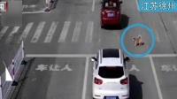 江苏徐州:斑马线前不礼让狗被罚?  交警回应:图是被P过的