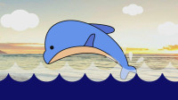 可爱小海豚 宝贝牛快乐小画家 儿童简笔画 绘画教程