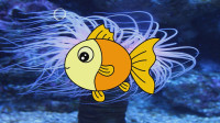 吐泡泡的小鱼 宝贝牛快乐小画家 彩色绘画 简笔画涂颜色