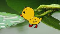 学游泳的小鸭子 宝贝牛快乐小画家 儿童绘画 学画画